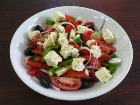 Horiatiki salata Greek salad Laconia taverna